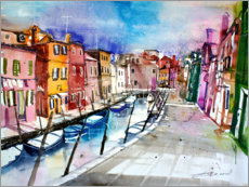Canvas print  Burano, colourful island in Venice - Johann Pickl