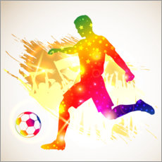 Canvas print  Soccer player silhouette - TAlex