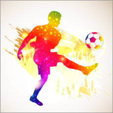 Wall sticker Soccer striker silhouette