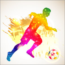 Wall sticker Soccer kicker silhouette