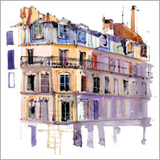 Canvas print  Parisian window landscape - Anastasia Mamoshina