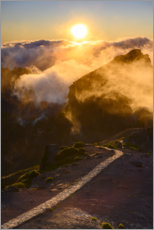 Premium poster  Mist mountains on Madeira - Bjoern Alicke