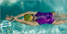 Canvas print  Backstroke in a swimming pool