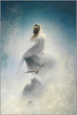Acrylic print  Asking the stars - Karl Wilhelm Diefenbach