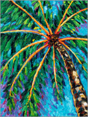 Acrylic print  Under the Palms II - Carolee Vitaletti
