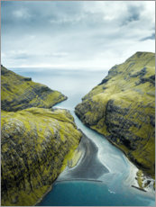 Gallery print  Fjord on the Faroe Islands - Lukas Saalfrank
