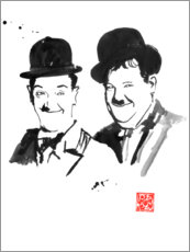 Premium poster  Laurel and Hardy - Péchane