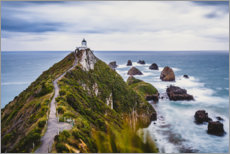 Foam board print  Nugget Point Lighthouse in New Zealand - Igor Kondler