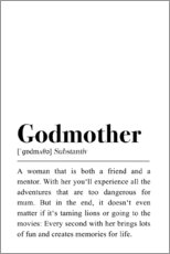 Aluminium print  Godmother Definition - Pulse of Art