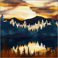 Foam board print  Autumnal sunset - SpaceFrog Designs