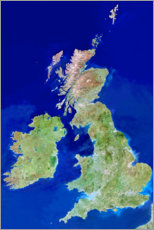 Wall sticker  Satellite image of the British Isles - Planetobserver