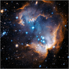 Canvas print  Starbirth region NGC 602 - NASA
