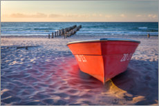 Canvas print  Red boat at the Baltic Sea - Christian Müringer