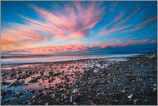 Gallery print  Spectacular sunset on a black sandy beach - Igor Kondler