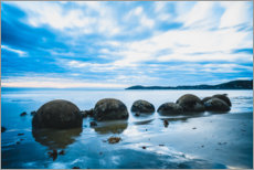 Premium poster  Blue hour at the Moeraki Boulders - Igor Kondler