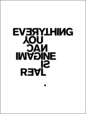 Aluminium print  Pablo Picasso, Everything You Can Imagine is Real - THE USUAL DESIGNERS