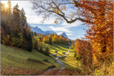 Premium poster  Autumn in Bavarian Alps - Dieter Meyrl