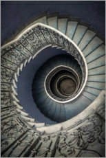 Canvas print  Pretty blue staircase - Jaroslaw Blaminsky