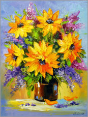 Premium poster Bouquet of sunflowers