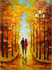 Premium poster  Autumn walk in the Park - Olha Darchuk
