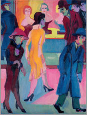 Aluminium print  Street Scene by the Barber Shop - Ernst Ludwig Kirchner