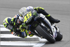 Canvas print  Valentino Rossi, Yamaha Factory Racing, Silverstone 2019