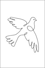 Wall sticker  Peace Dove
