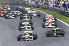 Premium poster  Mansell leads Senna, Piquet, Prost and Arnoux, Canadian GP 1986