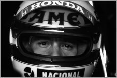 Canvas print  Ayrton Senna, Lotus 99T, portrait 1987