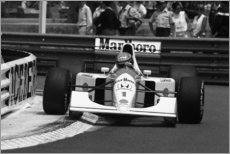 Canvas print  Ayrton Senna, McLaren MP4/6B, Monaco Grand Prix 1992