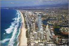 Gallery Print  Surfers Paradise - Aerial Perspective - David Wall