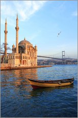 Wall Stickers  Rowboat and Ortaköy Mosque - Ali Kabas