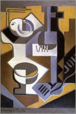 Gallery print  Still life with wine bottle - Juan Gris