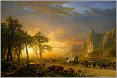 Gallery print  Wagon Train on the Prairie - Albert Bierstadt
