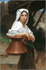 Wall Stickers  Young Italian Girl at a well - William Adolphe Bouguereau