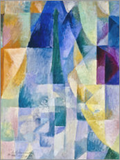 Aluminium print  Window to the city - Robert Delaunay