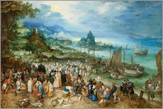 Wall sticker  Seaport with Christ's Sermon - Jan Brueghel d.Ä.