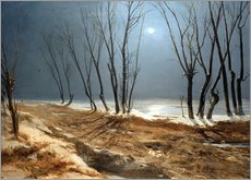 Wall sticker  Landscape in Winter at Moonlight - Carl Blechen