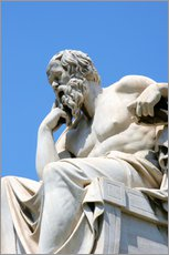 Gallery print  Statue of the thinking Socrates - Prisma