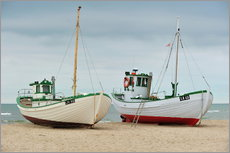 Gallery print  Fishing boats in Løkken, Denmark - HADYPHOTO