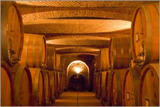 Gallery print  Wine cellar with wine barrels - Alison Jones