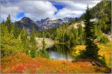 Gallery print  Mountain region in the fall with small lake - Jamie & Judy Wild