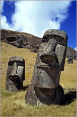 Wall sticker Moai on Easter Island