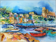 Gallery print  Lerici Liguria At the harbor - Hartmut Buse