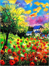 Wall sticker  Landscape with poppies - Pol Ledent