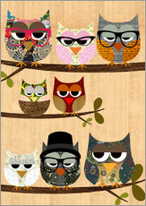Wall sticker  Nerd owls on branches - my friends and me - GreenNest