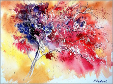 Wall sticker  Red tree - Pol Ledent