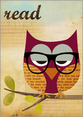 Gallery Print  Read Nerd Owl - GreenNest