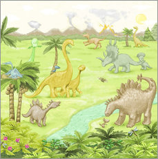 Fluffy Feelings - dinosaur landscape
