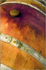 Gallery print  Old oak barrel with red wine - Janis Miglavs